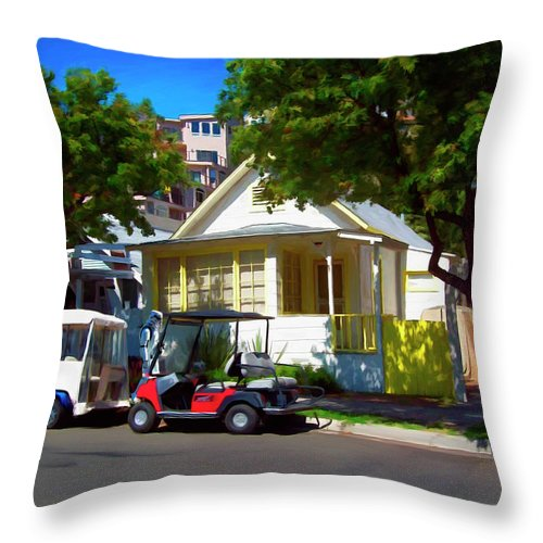 Catalina Throw Pillow featuring the digital art Social Visit by Snake Jagger