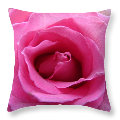 Rose Pink Pedals Throw Pillow featuring the photograph Soft And Pink by Luciana Seymour