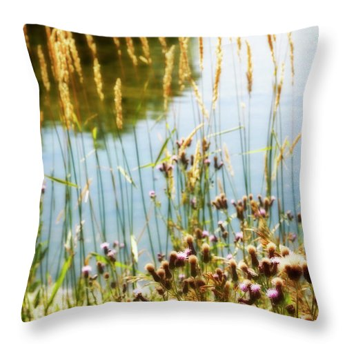 Soft Throw Pillow featuring the photograph Soft And Surreal by Marilyn Hunt