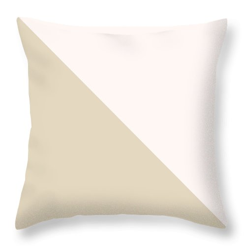 Pink Throw Pillow featuring the digital art Soft Blush and Champagne by Linda Woods