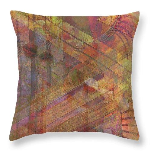 Soft Fantasia Throw Pillow featuring the digital art Soft Fantasia by John Beck