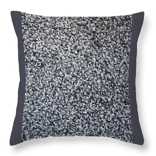 Abstract Throw Pillow featuring the painting Soft Grey Scale by Dean Triolo