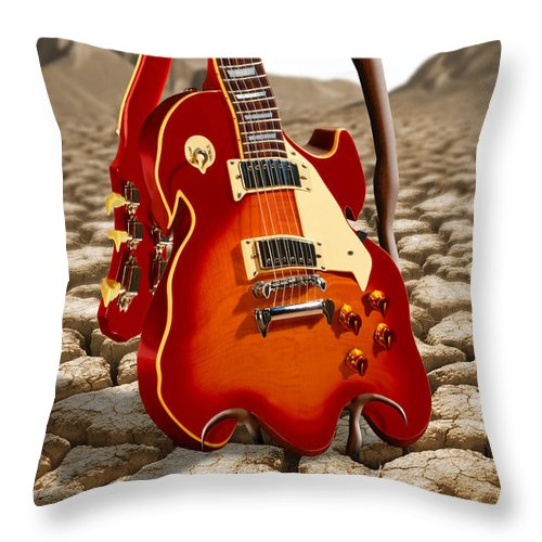 Soft Guitar Throw Pillow For Sale By Mike Mcglothlen