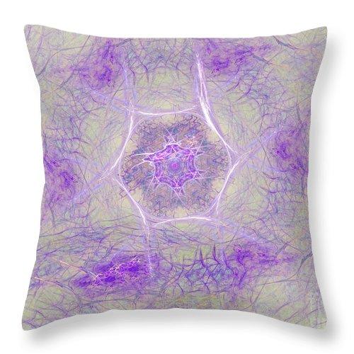 Throw Pillow featuring the digital art Soft Lavender by Deborah Benoit