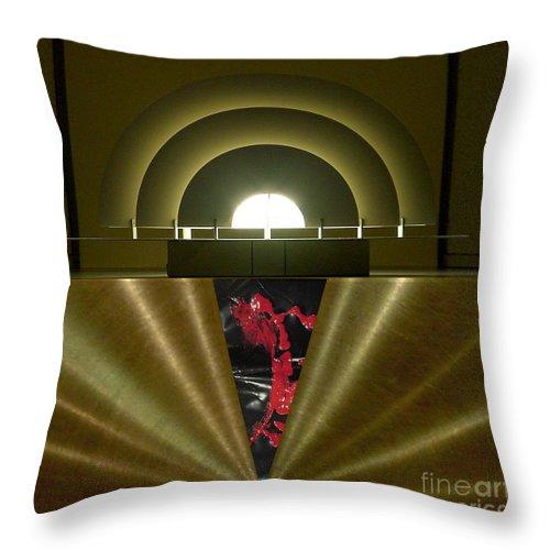 Digital Throw Pillow featuring the digital art Soft Light Hard Surface by Ron Bissett