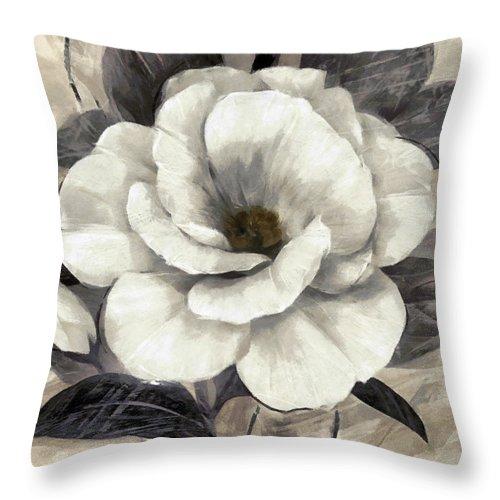 Floral Throw Pillow featuring the digital art Soft Petals I by Ronald Bolokofsky