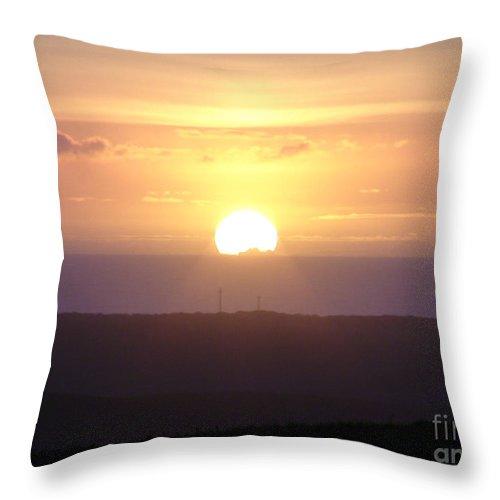 Sunset Throw Pillow featuring the photograph Soft Sunset by Cassandra Geernaert