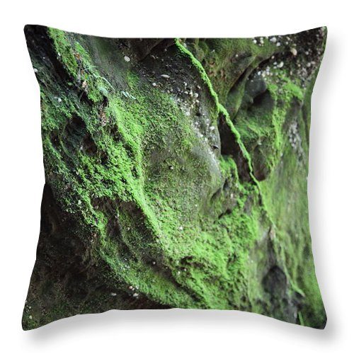 Rocks Throw Pillow featuring the photograph Soften The Moment by Amanda Barcon