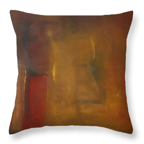Throw Pillow featuring the painting Softly Reflecting by Jack Diamond