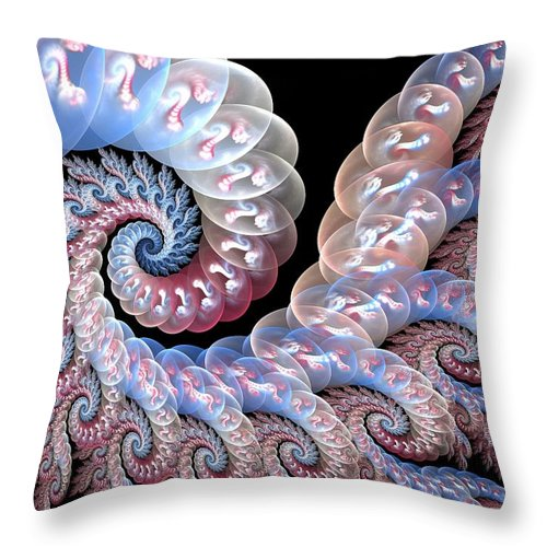 Fractal Art Throw Pillow featuring the digital art Softly Whispering by Amorina Ashton