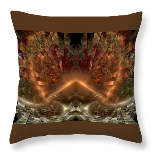 Sun Throw Pillow featuring the digital art Sol Invictus by NirvanaBlues