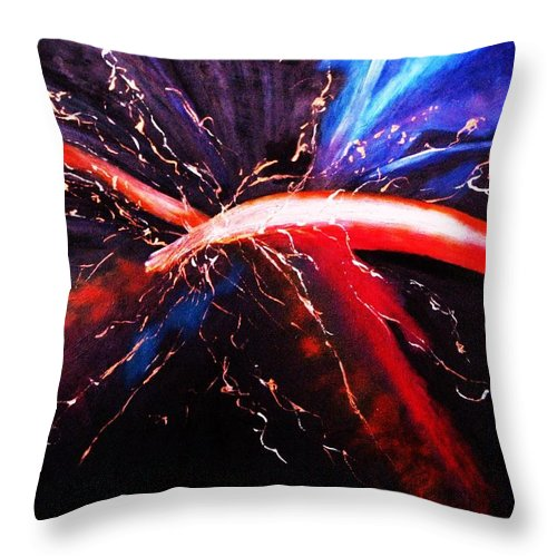 Acrylic Paintings Throw Pillow featuring the painting Solace by Regina Brandt