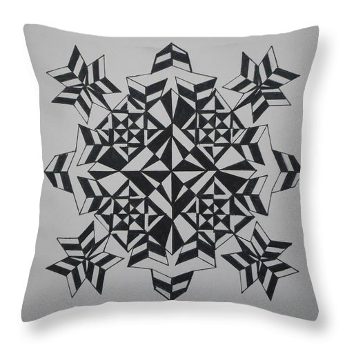 Concentric Throw Pillow featuring the painting Solar Collector by Jesus Nicolas Castanon