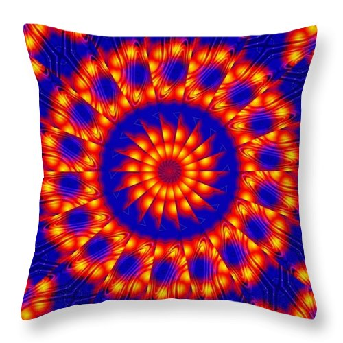 Sun Throw Pillow featuring the digital art Solar Energy by Robert Orinski