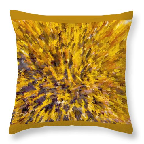 Solar Furnace Throw Pillow featuring the painting Solar Furnace by David Lee Thompson