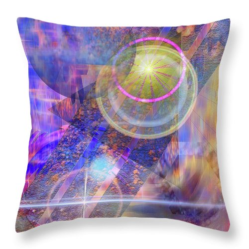 Solar Progression Throw Pillow featuring the digital art Solar Progression by John Beck