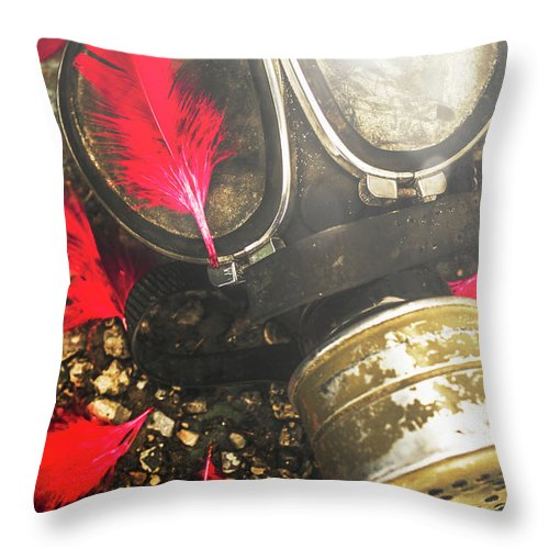 Gas Throw Pillow featuring the photograph Soldiers Of The Fallen by Jorgo Photography - Wall Art Gallery
