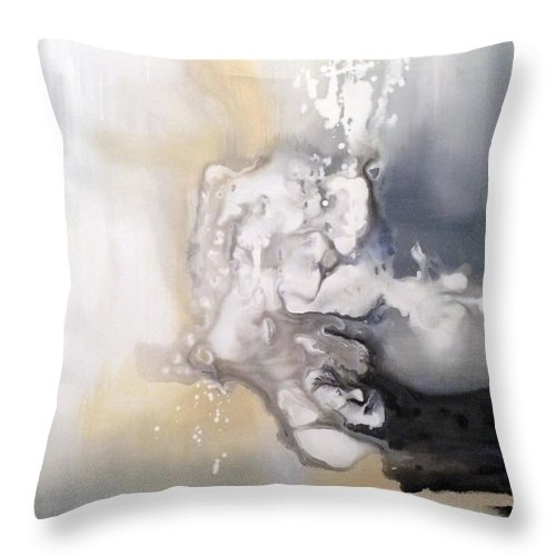 Modern Art Throw Pillow featuring the painting Soliloquy by Jill English