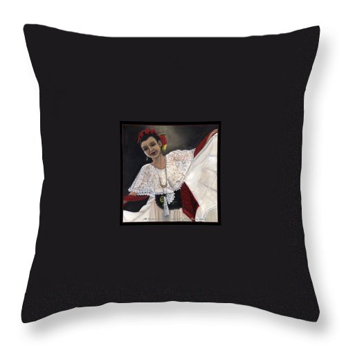 Throw Pillow featuring the painting Solita by Toni Berry