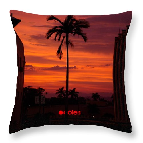 Innisfail Throw Pillow featuring the photograph Solitary Passage by Kerryn Madsen- Pietsch