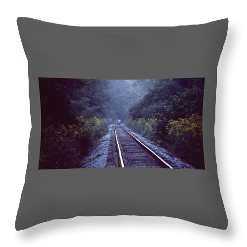 Walking Throw Pillow featuring the photograph Solitude 031307-66 by Mike Davis