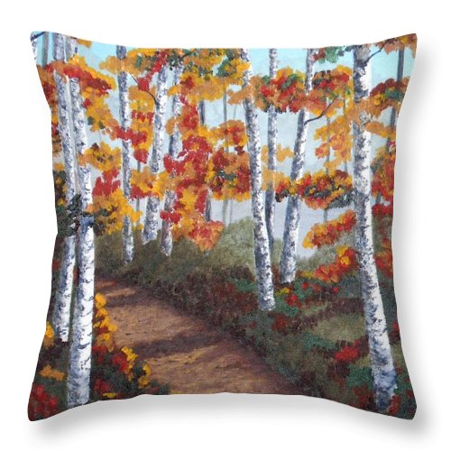 Fall Throw Pillow featuring the painting Solitude by Brandy House