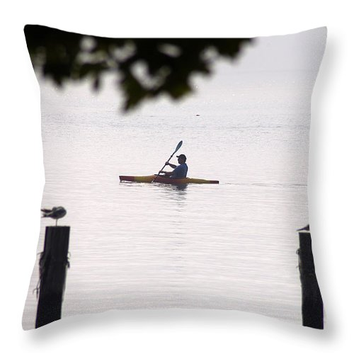 Clay Throw Pillow featuring the photograph Solitude by Clayton Bruster