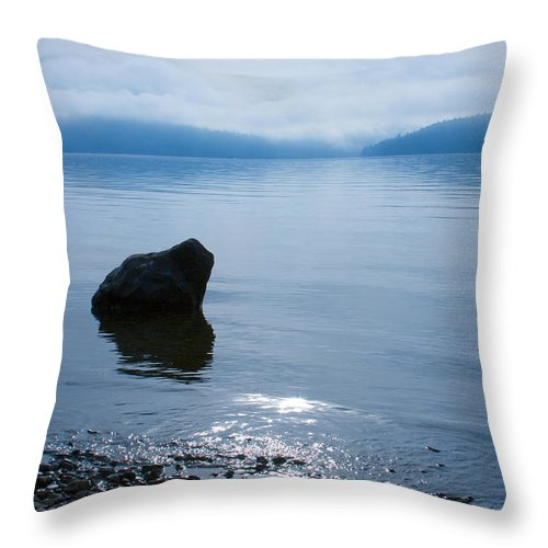 Alone Throw Pillow featuring the photograph Solitude by Idaho Scenic Images Linda Lantzy