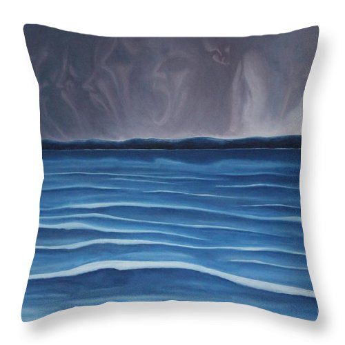 Tmad Throw Pillow featuring the painting Solitude by Michael TMAD Finney