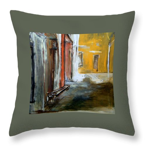 Easter Throw Pillow featuring the painting Solitude by Rome Matikonyte