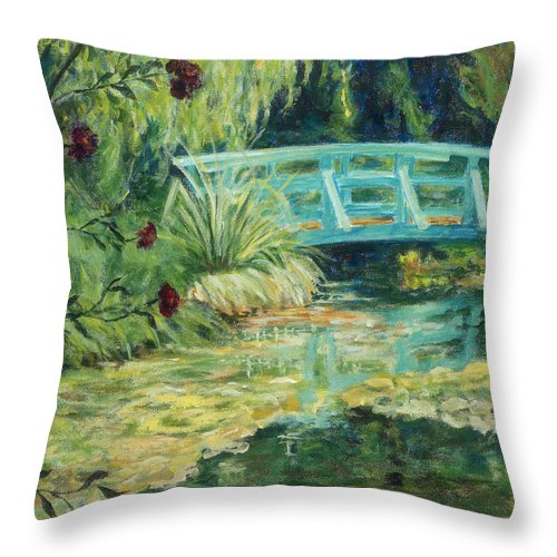Impressionism Throw Pillow featuring the painting Solitude by Tara Moorman