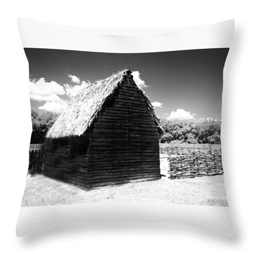 Barn Throw Pillow featuring the photograph Solo Barn by Jean Wolfrum