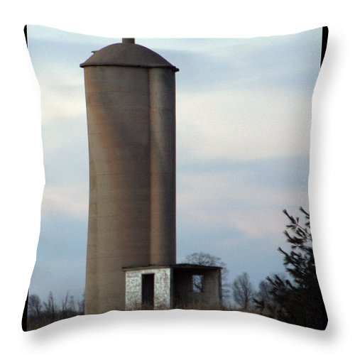 Silo Throw Pillow featuring the photograph Solo Silo by Tim Nyberg
