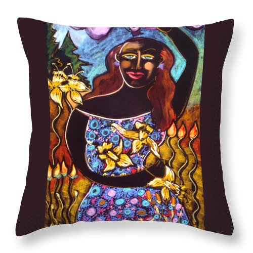 Figurative Throw Pillow featuring the painting Solong by Angelina Marino