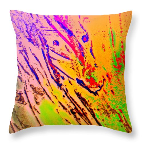 Dance Throw Pillow featuring the painting Some From The Red Team by Hilde Widerberg