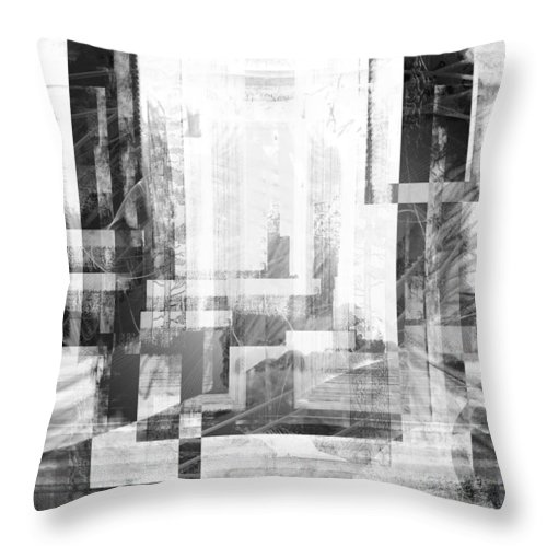 Abstract Throw Pillow featuring the digital art Some Stories.. by Art Di