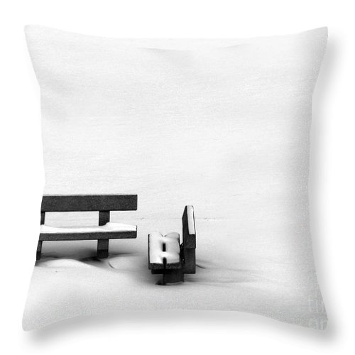 Black Throw Pillow featuring the photograph Someone To Hear You When You Sigh by Dana DiPasquale