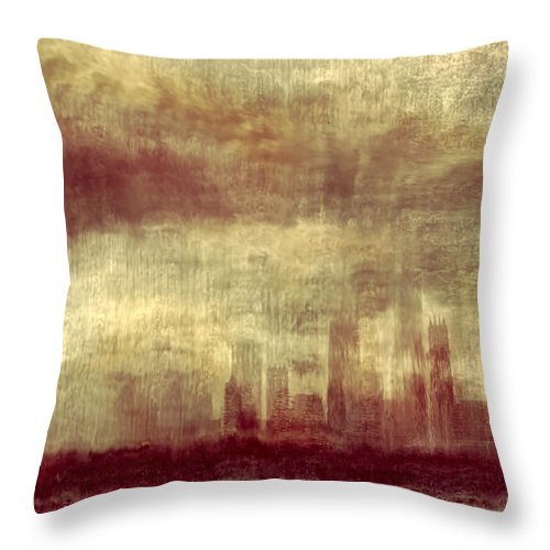 Clouds Throw Pillow featuring the photograph Someone To Hold You Beneath Darkened Sky by Dana DiPasquale