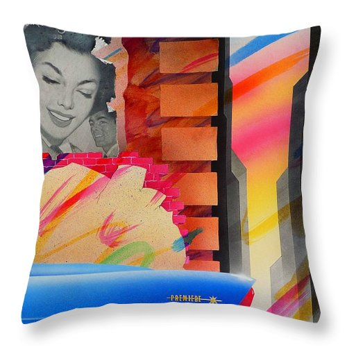 Collage Throw Pillow featuring the painting Someone You Love by Charles Stuart