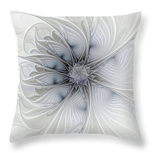 Digital Art Throw Pillow featuring the digital art Something Blue by Amanda Moore