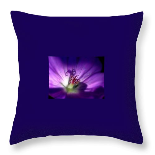 Floral Throw Pillow featuring the photograph Something Blue by Marla McFall