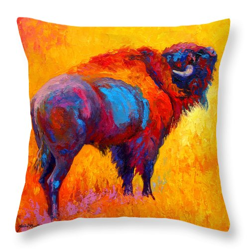 Wildlife Throw Pillow featuring the painting Something In The Air by Marion Rose