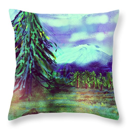 Tree Throw Pillow featuring the digital art Something Left Behind by Arline Wagner