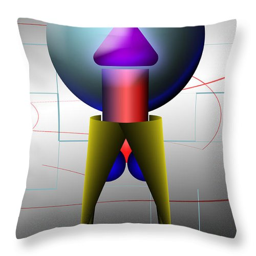 Digital Throw Pillow featuring the digital art Something To Crow About by Tim Hightower