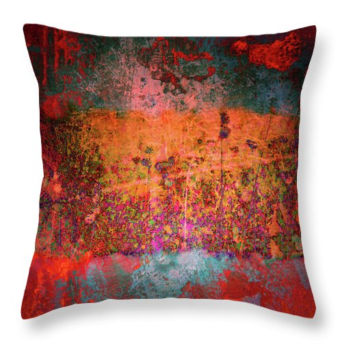 Texture Throw Pillow featuring the digital art Sometime In The Beginning by Tara Turner