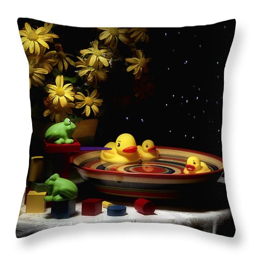 Whimsy Throw Pillow featuring the photograph Sometimes Late At Night by Tom Mc Nemar