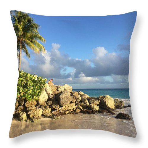 Caribbean Throw Pillow featuring the photograph Somewhere in Barbados by Cindy Ross