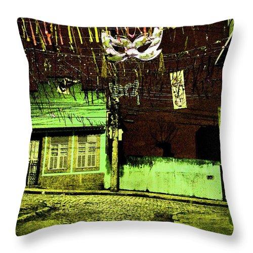 Fresco Throw Pillow featuring the photograph Somewhere In Rio by Sergio Bondioni