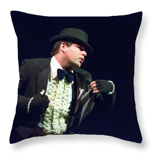 1626 Throw Pillow featuring the photograph Song and Dance Man by Alan D Smith
