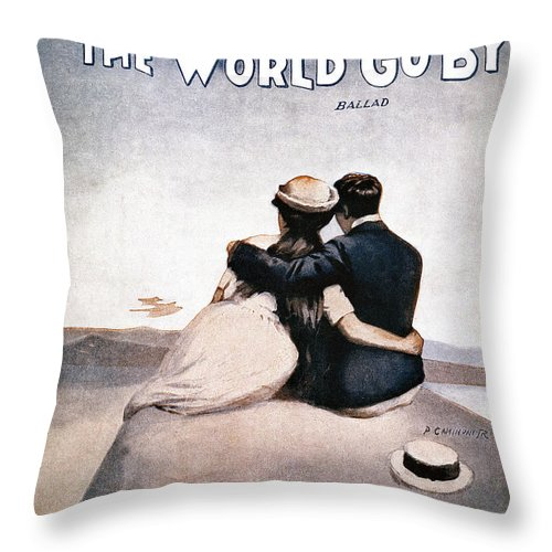 1919 Throw Pillow featuring the photograph Song Sheet Cover, 1919 by Granger